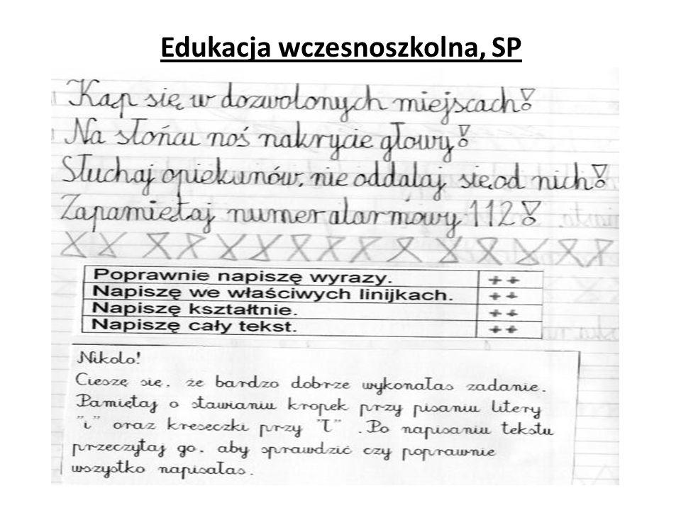 Edukacja wczesnoszkolna, SP