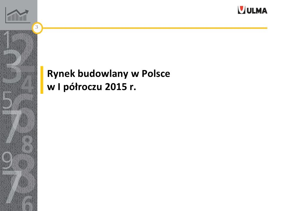Rynek budowlany w Polsce w I półroczu 2015 r. 3