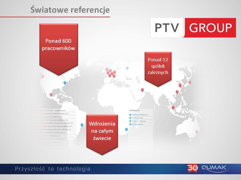 Światowe referencje Ponad 600 pracowników Ponad 12 spółek zależnych Wdrożenia na całym świecie