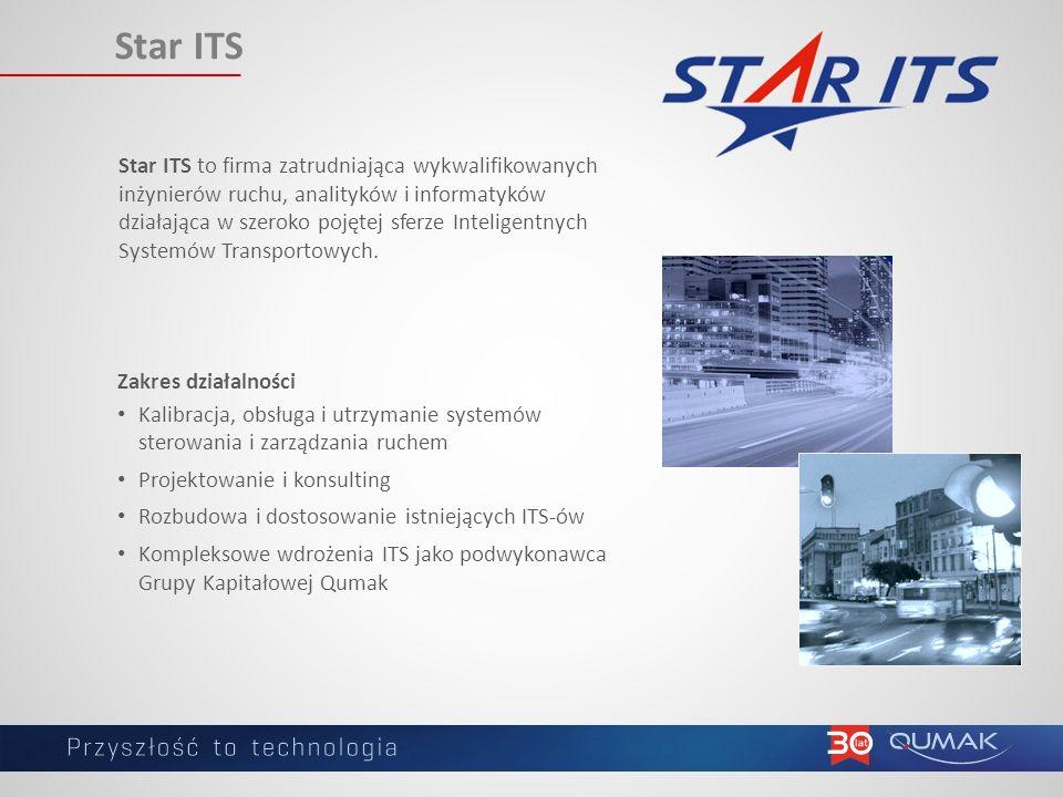 Star ITS Star ITS to firma zatrudniająca wykwalifikowanych inżynierów ruchu, analityków i informatyków działająca w szeroko pojętej sferze Inteligentnych Systemów Transportowych.