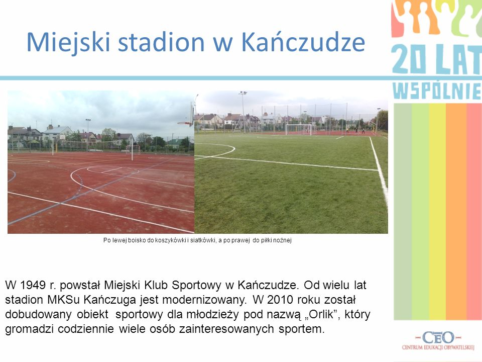 Miejski stadion w Kańczudze W 1949 r. powstał Miejski Klub Sportowy w Kańczudze.