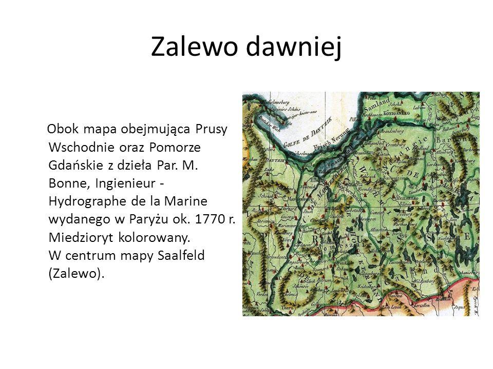 Zalewo dawniej Obok mapa obejmująca Prusy Wschodnie oraz Pomorze Gdańskie z dzieła Par.