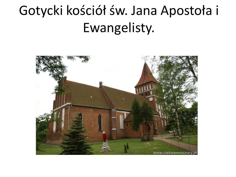 Gotycki kościół św. Jana Apostoła i Ewangelisty.