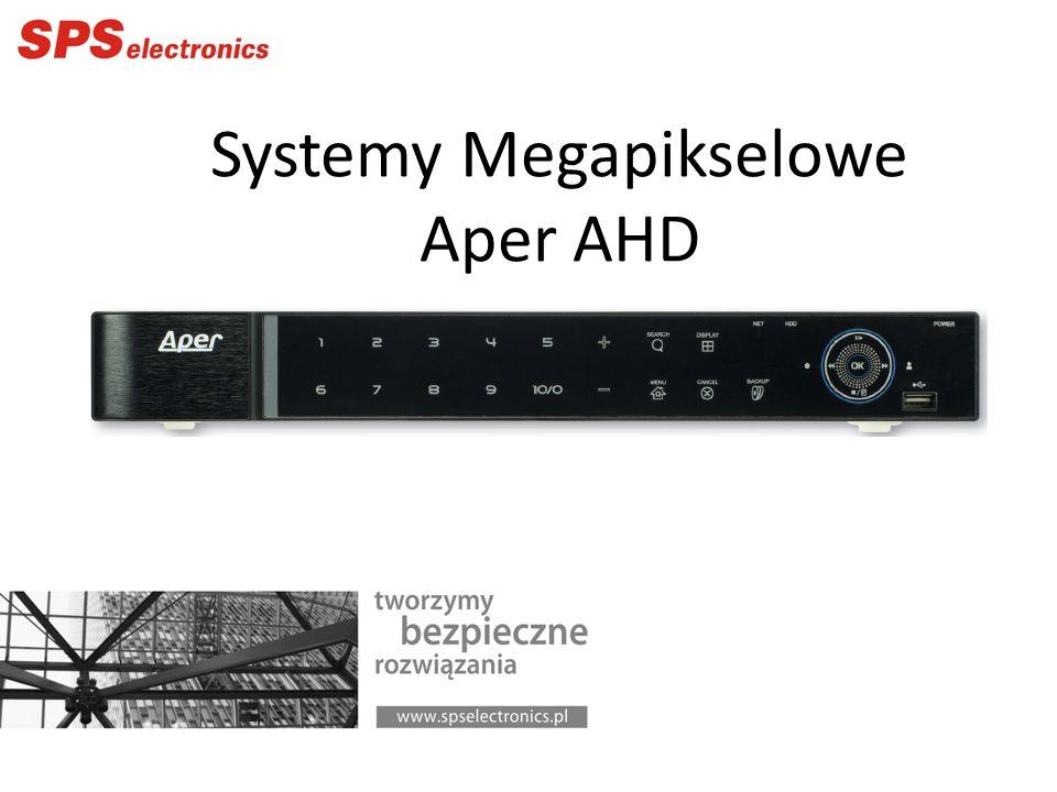 APER AHD Kamery kopułowe (kulowe): AC-E4620-2.8/12 2Megapiksele (1920 x 1080p) Przetwornik 1/2.8 SONY AHD/PAL Minimalne oświetlenie 0,033 / 0,017 / 0 lx Obiektyw 2.8 – 12 mm D-WDR, HLC, BLC, 3D-DNR, Defog, Sensup, OSD Promiennik 42IR o zasięgu 40m -30..