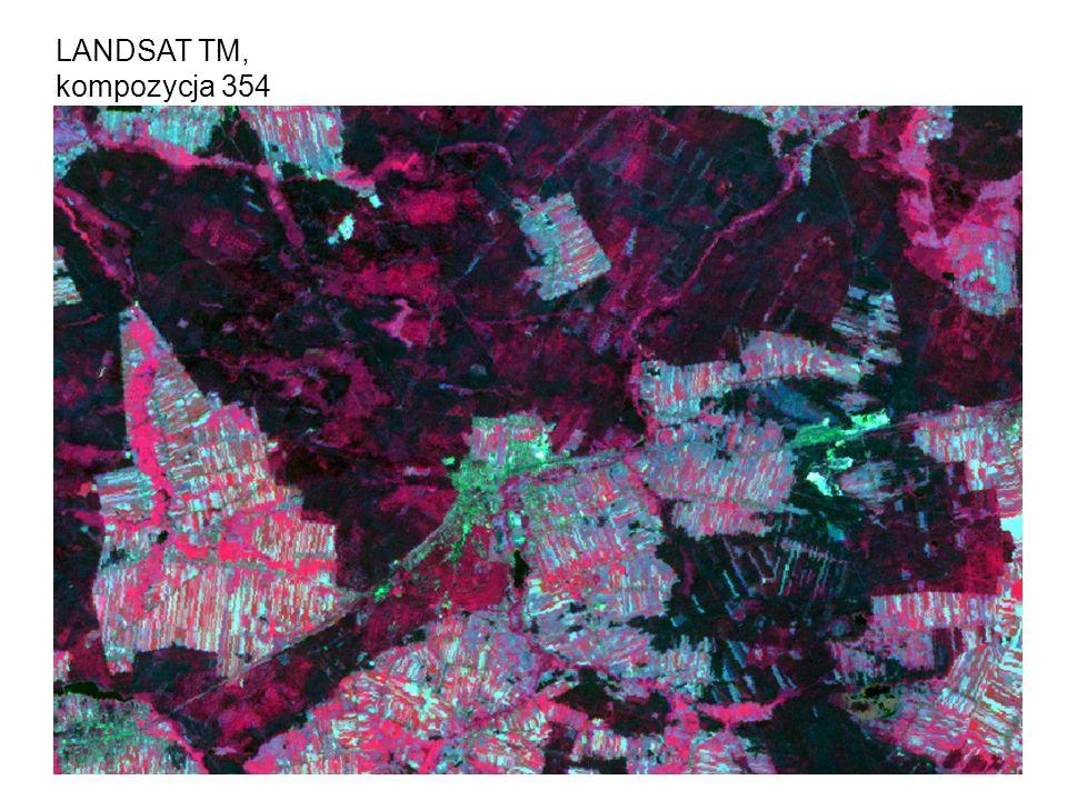 13 LANDSAT TM, kompozycja 354