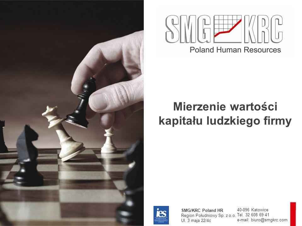 Mierzenie wartości kapitału ludzkiego firmy SMG/KRC Poland HR Region Południowy Sp.