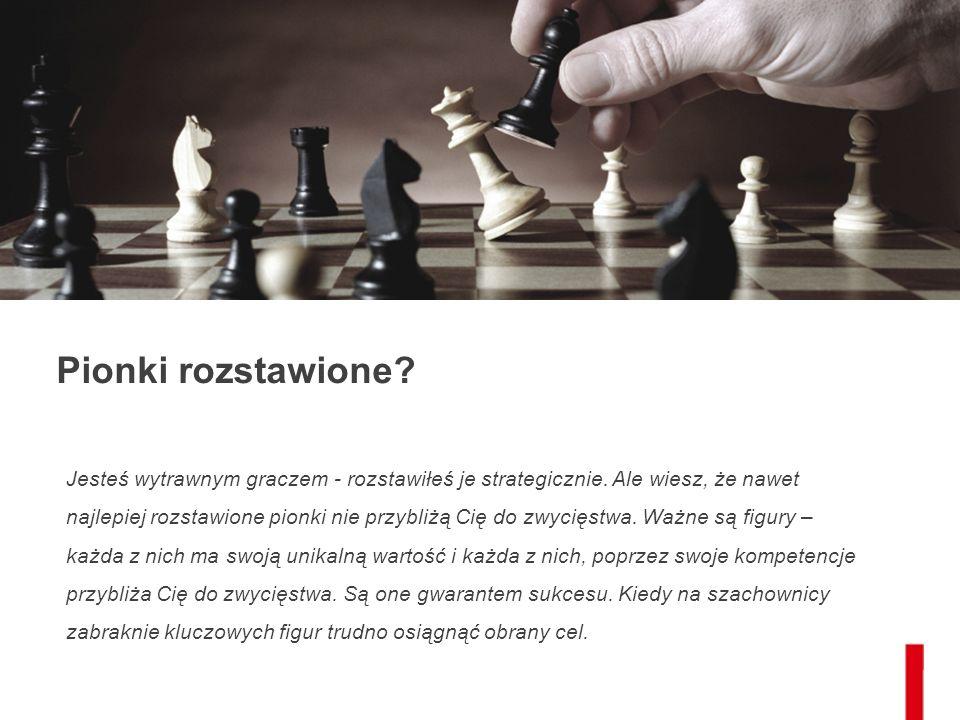 Pionki rozstawione. Jesteś wytrawnym graczem - rozstawiłeś je strategicznie.