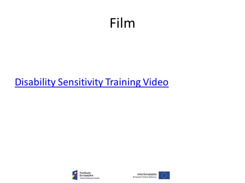 Film Disability Sensitivity Training Video