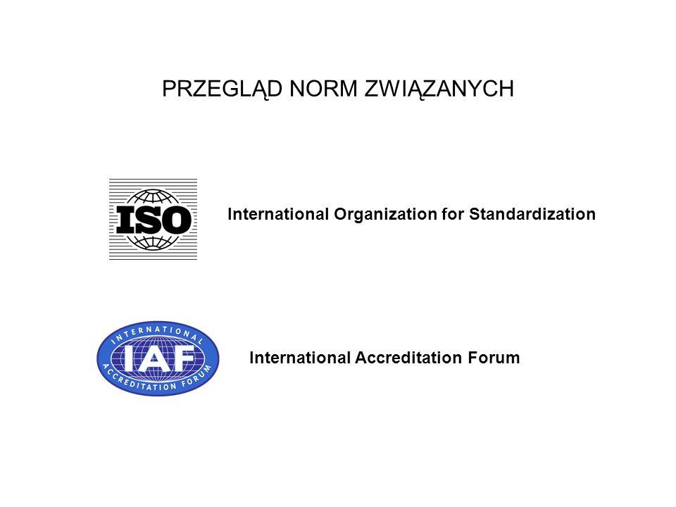 PRZEGLĄD NORM ZWIĄZANYCH International Organization for Standardization International Accreditation Forum