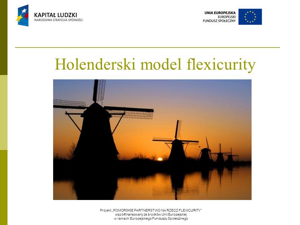 """Holenderski model flexicurity Projekt """"POMORSKIE PARTNERSTWO NA RZECZ FLEXICURITY"""" współfinansowany ze środków Unii Europejskiej w ramach Europejskieg"""