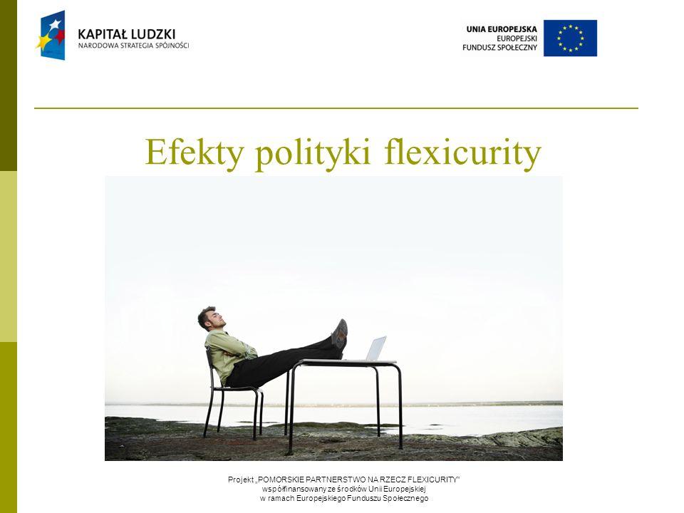 """Efekty polityki flexicurity Projekt """"POMORSKIE PARTNERSTWO NA RZECZ FLEXICURITY"""" współfinansowany ze środków Unii Europejskiej w ramach Europejskiego"""