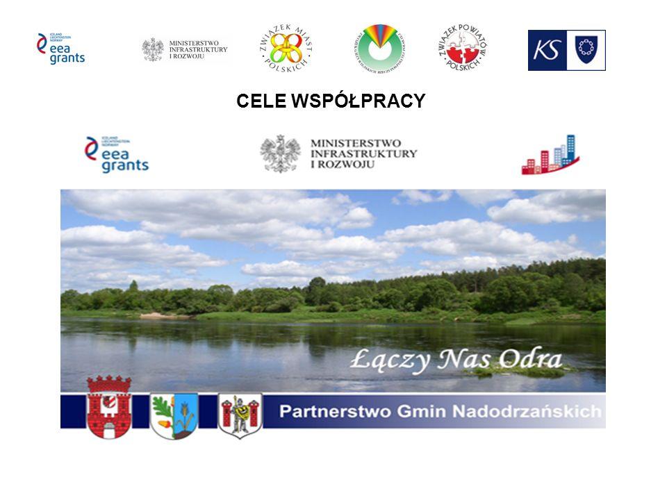 - Wypracowanie modelu działania Partnerstwa Nadodrzańskich Gmin, które pozwoli wdrożyć przedsięwzięcia przyczyniające się do rozwoju społeczno-gospodarczego zdefiniowanego obszaru funkcjonalnego oraz wzmocnienia lokalnych więzi społecznych.