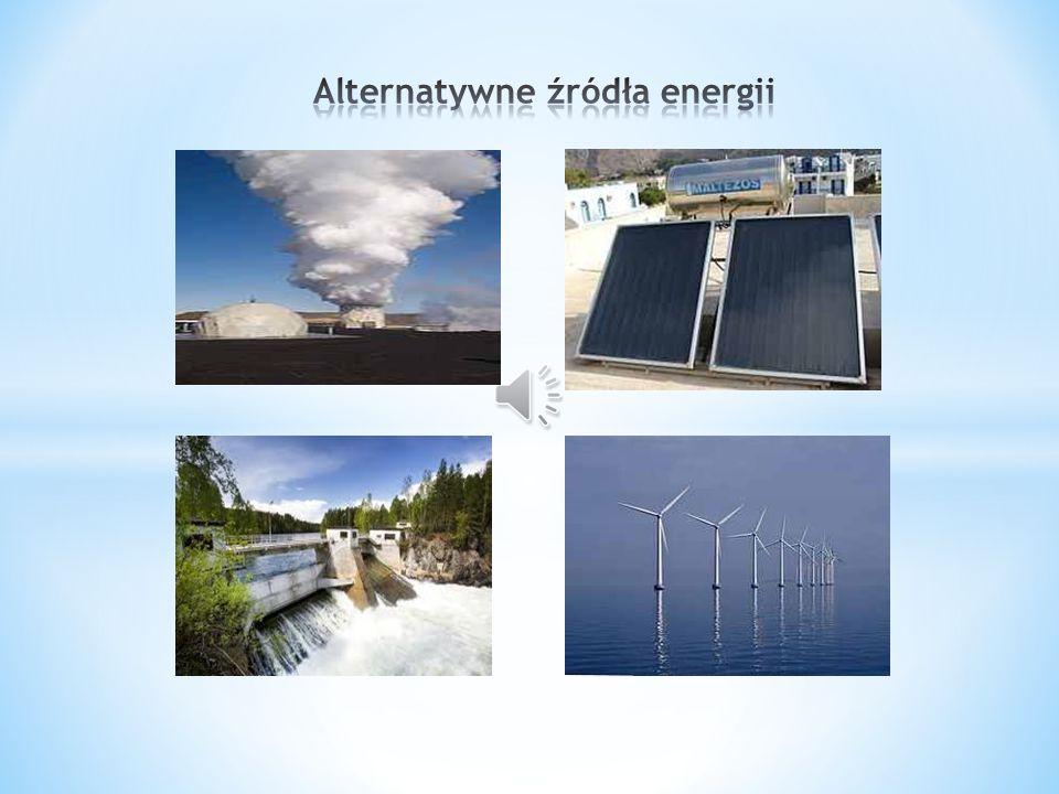 to źródła energii niezwiązane bezpośrednio z zasobami kopalnianymi (węgiel brunatny, kamienny, ropa naftowa, gaz) ani z materiałami rozszczepialnymi, wykorzystywanymi w energetyce jądrowej.
