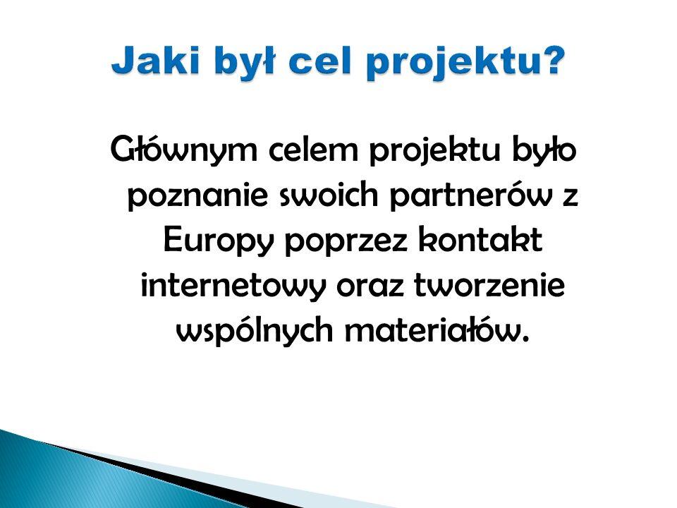 Głównym celem projektu było poznanie swoich partnerów z Europy poprzez kontakt internetowy oraz tworzenie wspólnych materiałów.