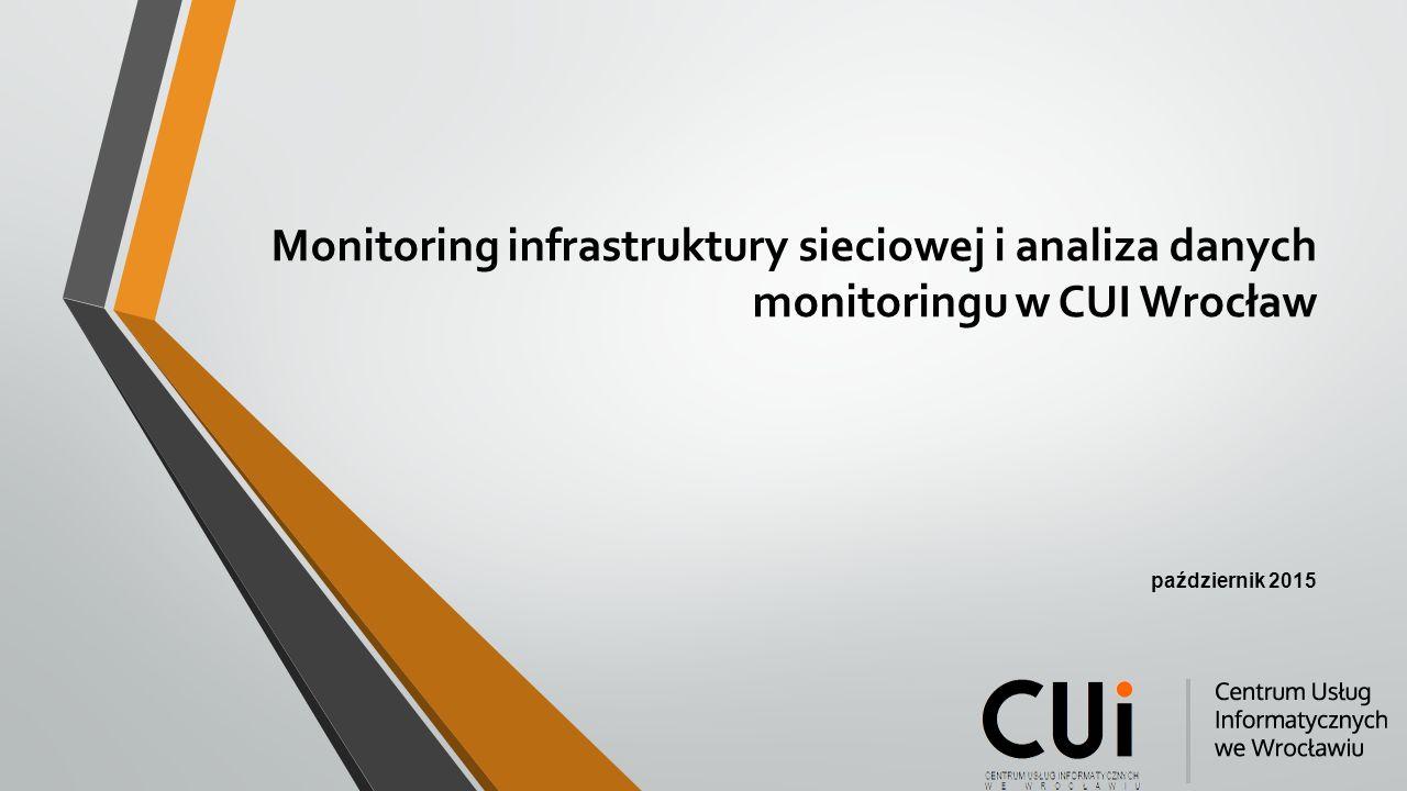 Monitoring infrastruktury sieciowej i analiza danych monitoringu w CUI Wrocław październik 2015
