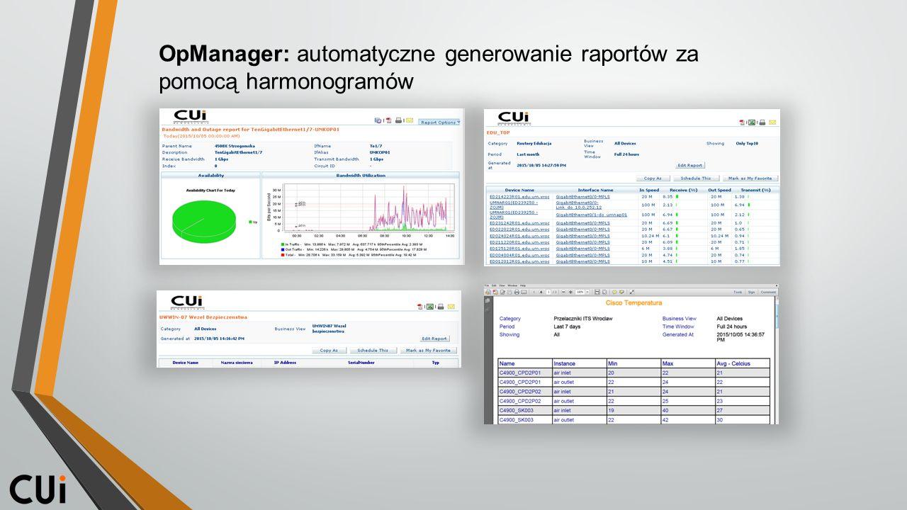 OpManager: automatyczne generowanie raportów za pomocą harmonogramów