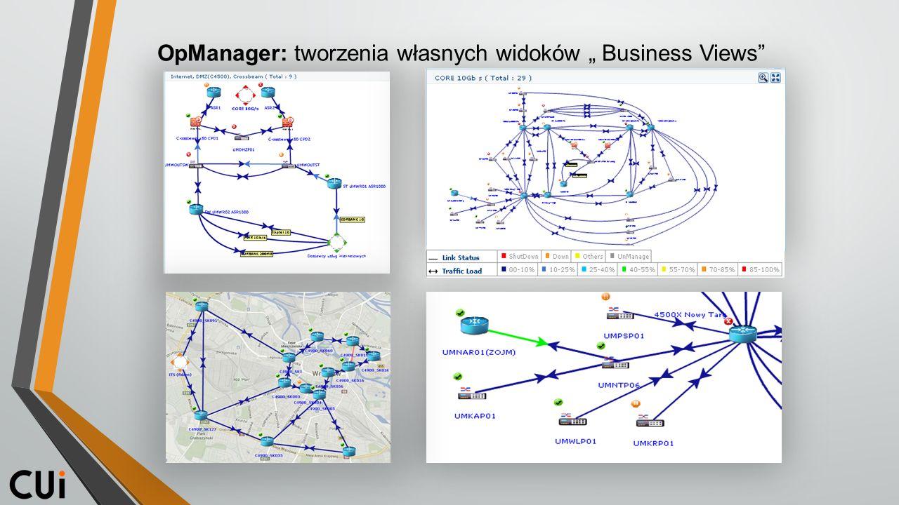 """OpManager: tworzenia własnych widoków """" Business Views"""