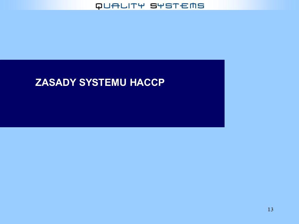 13 ZASADY SYSTEMU HACCP