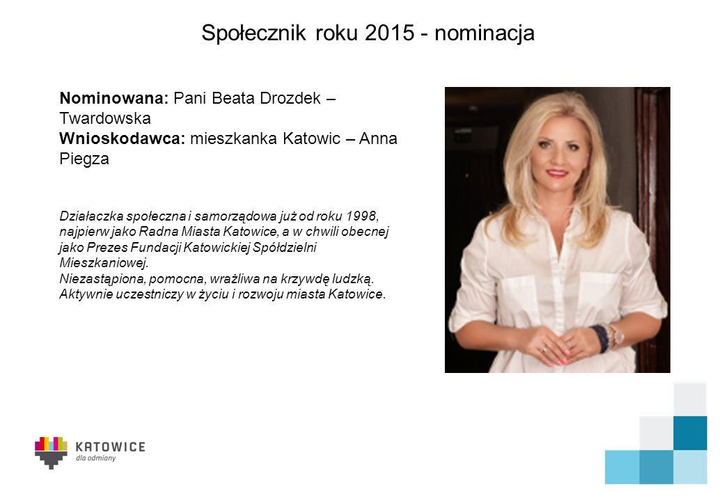 DZIĘKUJEMY ZA UWAGĘ Społecznik roku 2015 Nagrodę im. Józefa Kocurka otrzymuje PANI JADWIGA CHARYGA