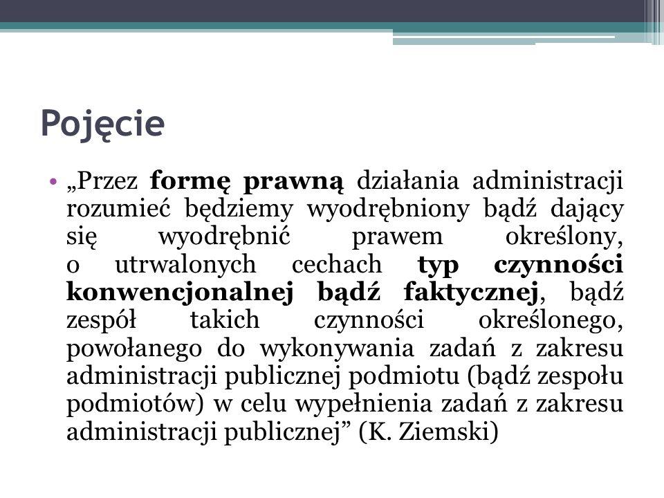 Przyrzeczenie administracyjne Według I.