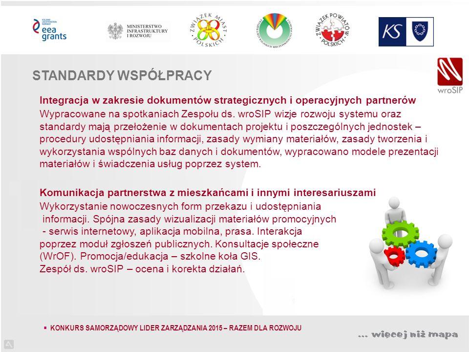 Integracja w zakresie dokumentów strategicznych i operacyjnych partnerów Wypracowane na spotkaniach Zespołu ds.