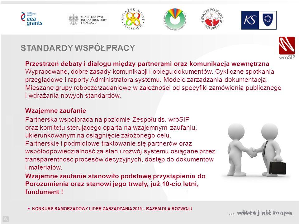 Przestrzeń debaty i dialogu między partnerami oraz komunikacja wewnętrzna Wypracowane, dobre zasady komunikacji i obiegu dokumentów.