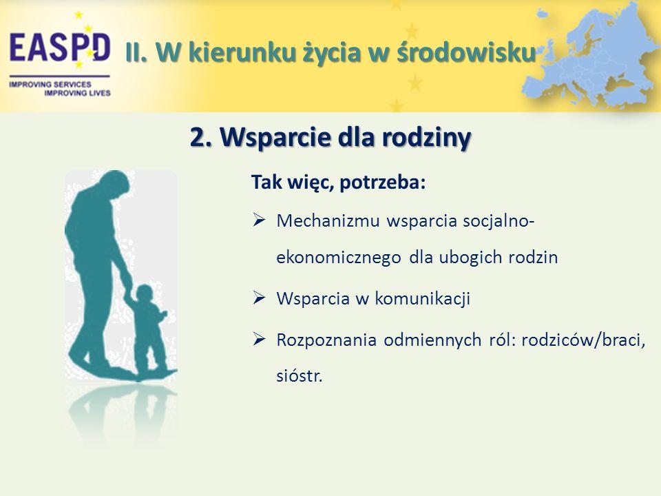 Tak więc, potrzeba:  Mechanizmu wsparcia socjalno- ekonomicznego dla ubogich rodzin  Wsparcia w komunikacji  Rozpoznania odmiennych ról: rodziców/braci, sióstr.