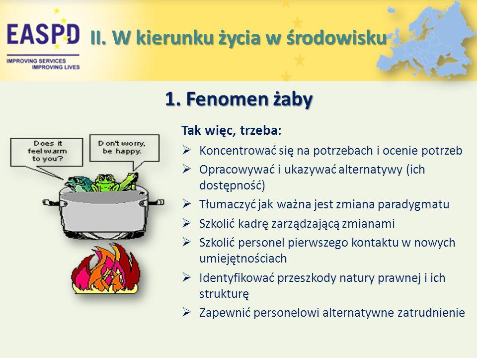 1. Fenomen żaby Tak więc, trzeba:  Koncentrować się na potrzebach i ocenie potrzeb  Opracowywać i ukazywać alternatywy (ich dostępność)  Tłumaczyć
