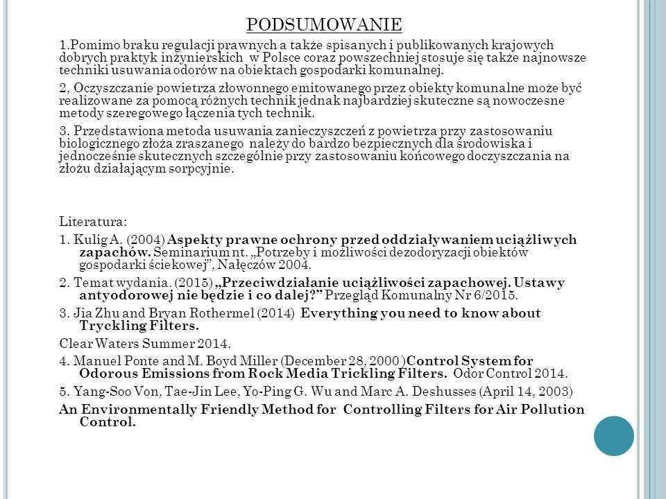 PODSUMOWANIE 1.Pomimo braku regulacji prawnych a także spisanych i publikowanych krajowych dobrych praktyk inżynierskich w Polsce coraz powszechniej s