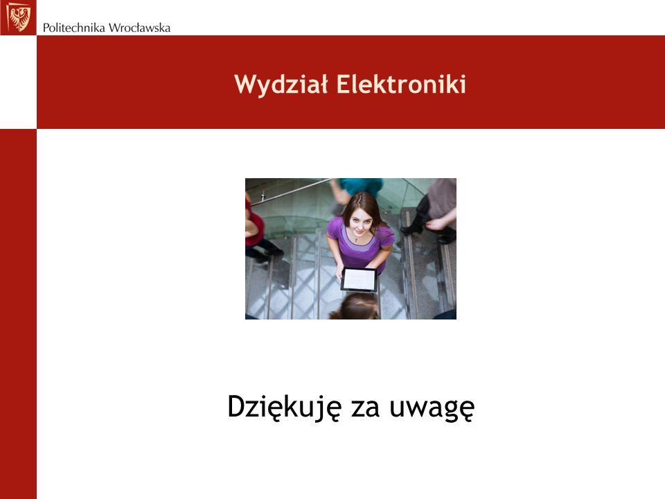 Wydział Elektroniki Dziękuję za uwagę