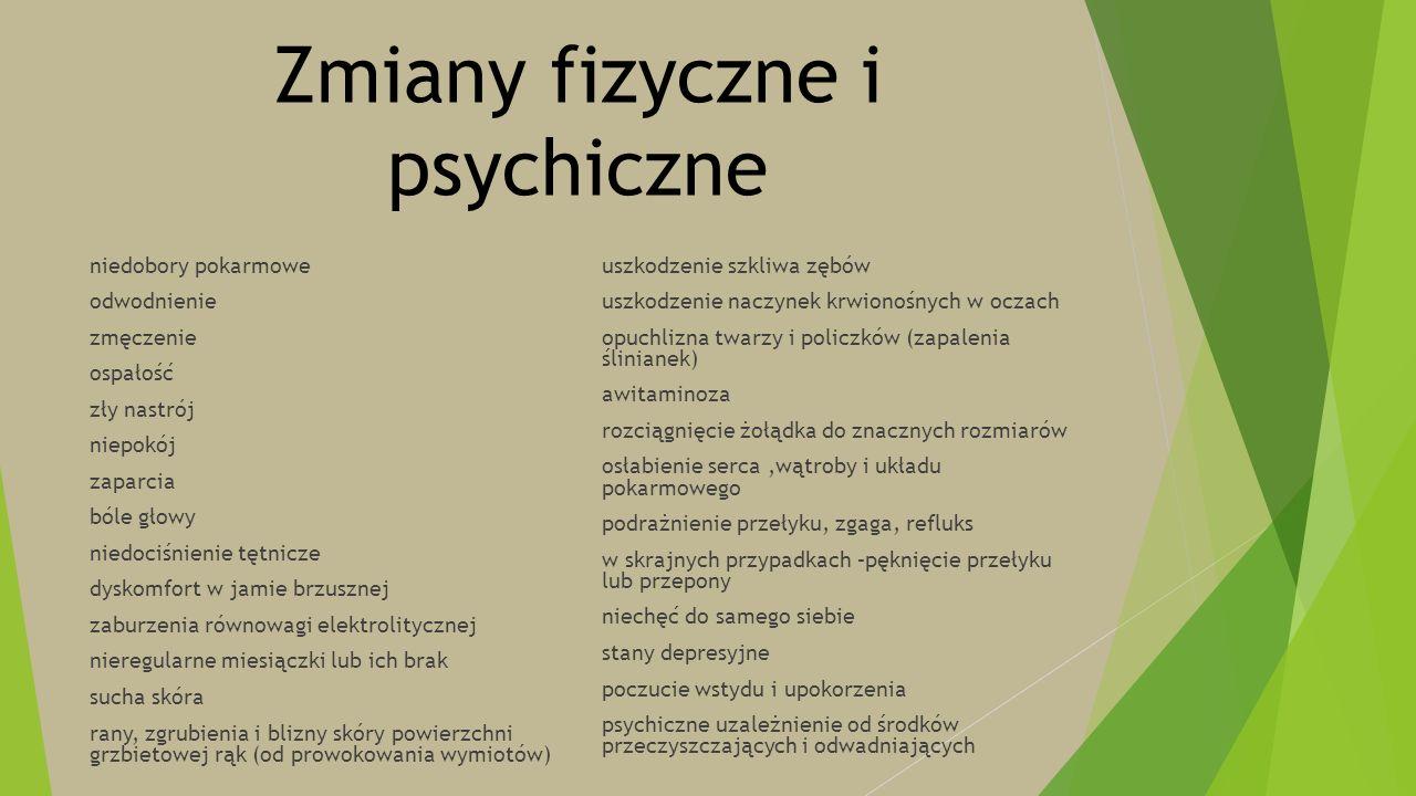Zmiany fizyczne i psychiczne niedobory pokarmowe odwodnienie zmęczenie ospałość zły nastrój niepokój zaparcia bóle głowy niedociśnienie tętnicze dysko