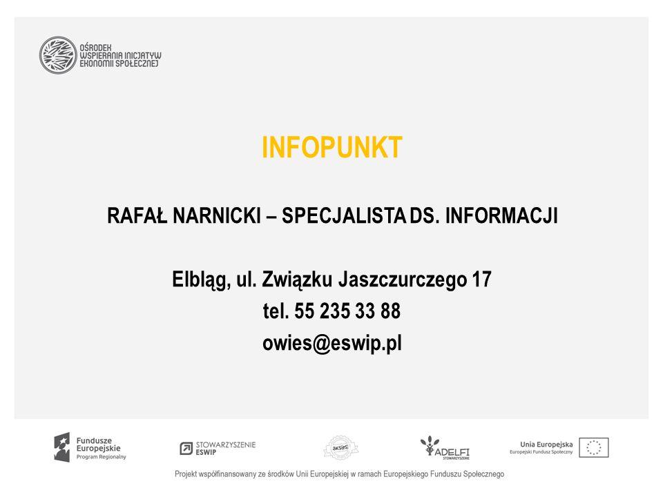 INFOPUNKT RAFAŁ NARNICKI – SPECJALISTA DS. INFORMACJI Elbląg, ul.