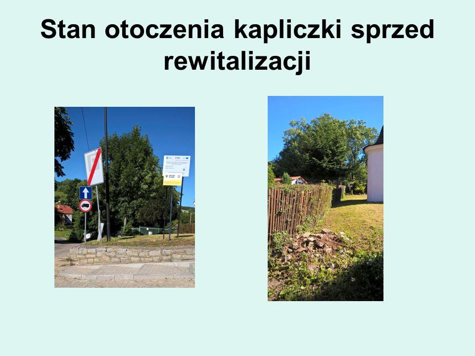 Stan otoczenia kapliczki sprzed rewitalizacji