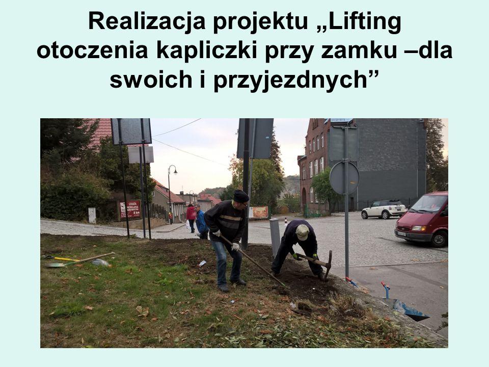 """Realizacja projektu """"Lifting otoczenia kapliczki przy zamku –dla swoich i przyjezdnych"""