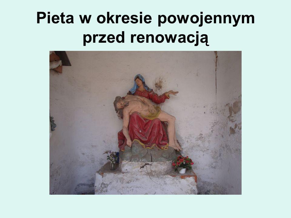 Pieta w okresie powojennym przed renowacją