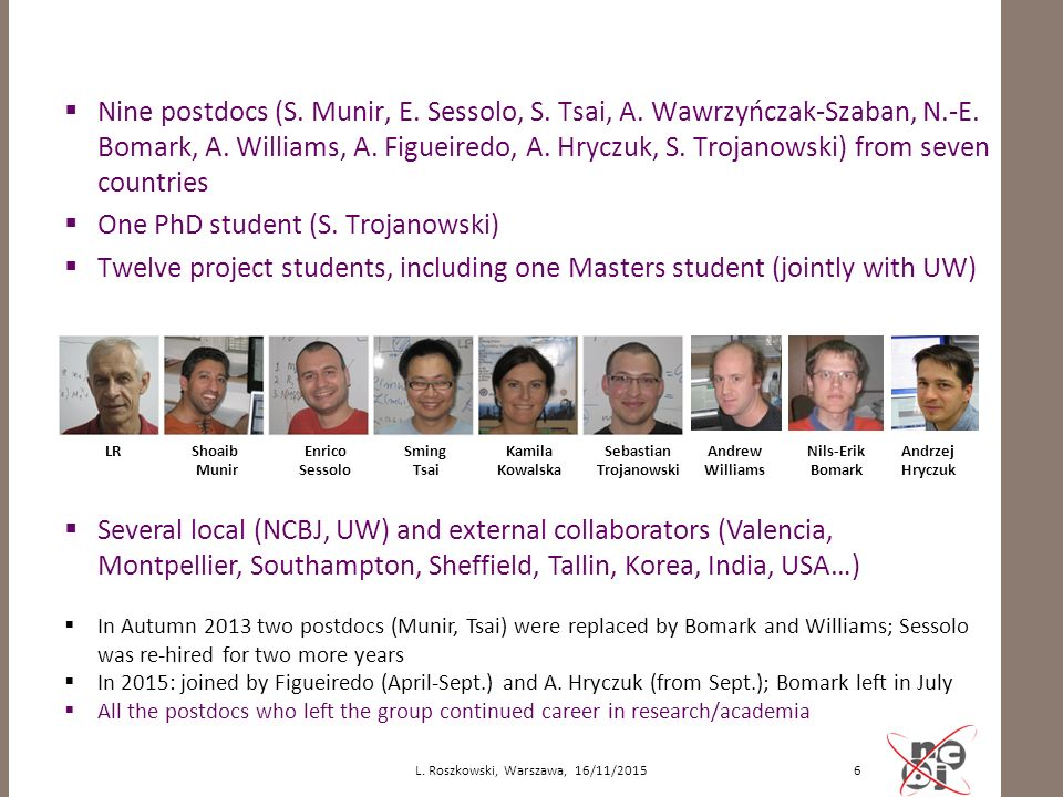  Nine postdocs (S.Munir, E. Sessolo, S. Tsai, A.