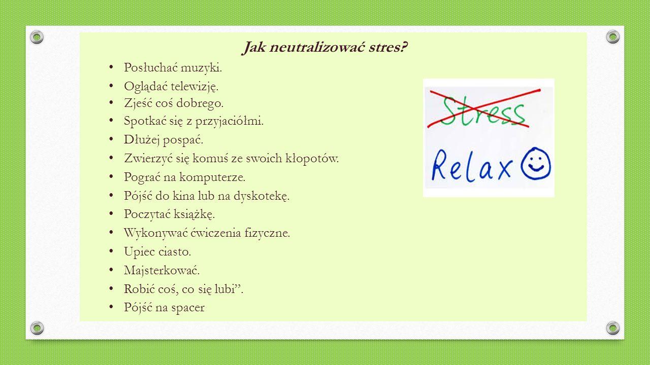 ĆWICZENIA RELAKSUJĄCE (obejrzyj i odsłuchaj prezentację PPT) Ćwiczenia relaksacyjne to jeden z najlepszych sposobów na szybkie pokonanie stresu.