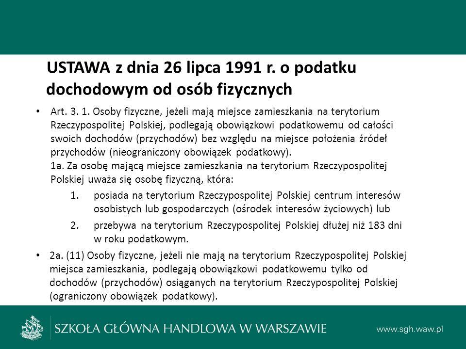 Środki unikania podwójnego opodatkowania środki jednostronne (unilateral measures): wewnętrzne ustawodawstwo podatkowe (*ustawa o podatku dochodowym od osób prawnych) (*ustawa o podatku dochodowym od osób fizycznych) dwustronne (bilateral measures): bilateralne umowy o unikaniu podwójnego opodatkowania (ok.