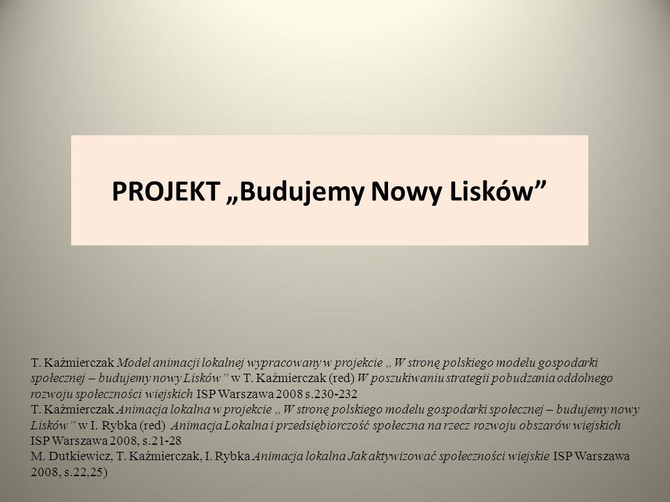 """PROJEKT """"Budujemy Nowy Lisków T."""