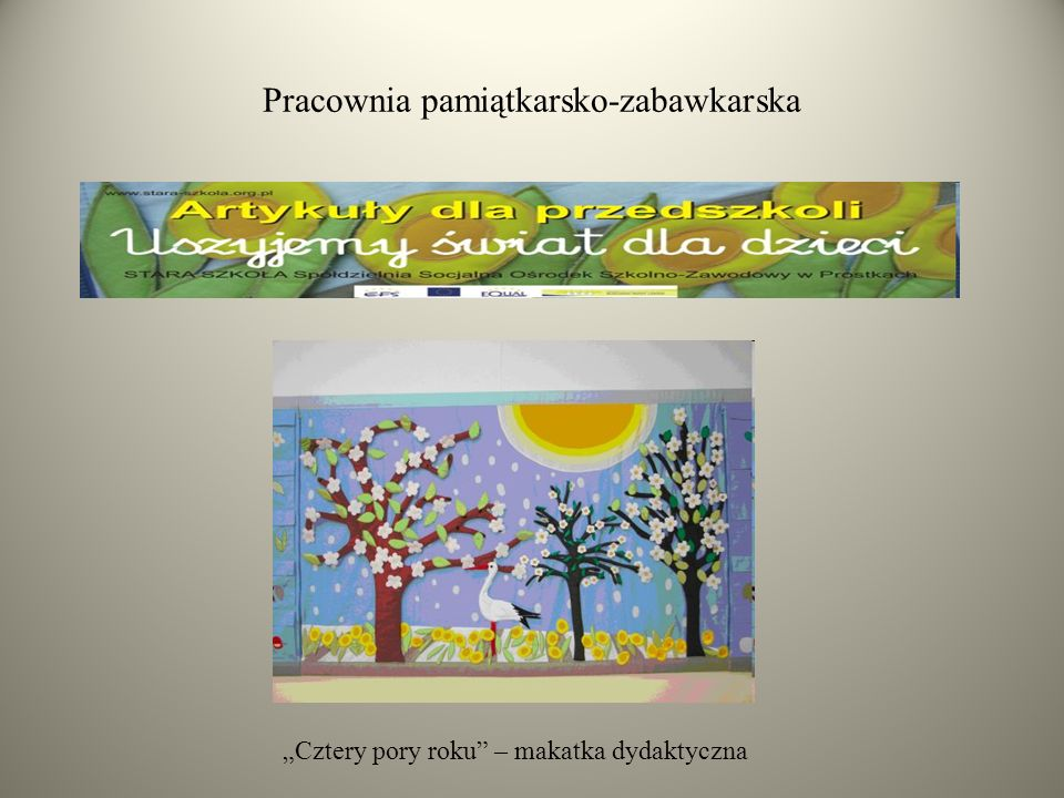"Pracownia pamiątkarsko-zabawkarska ""Cztery pory roku"" – makatka dydaktyczna"