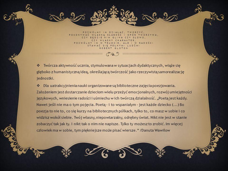 Ko ł o Mi ł o ś ników Poezji Barbara Pruszczyk Oliwia Bąkowicz Bartłomiej Pruszczyk Roksana Grygiel Małgorzata Pawliszewska Julia Bąkowicz