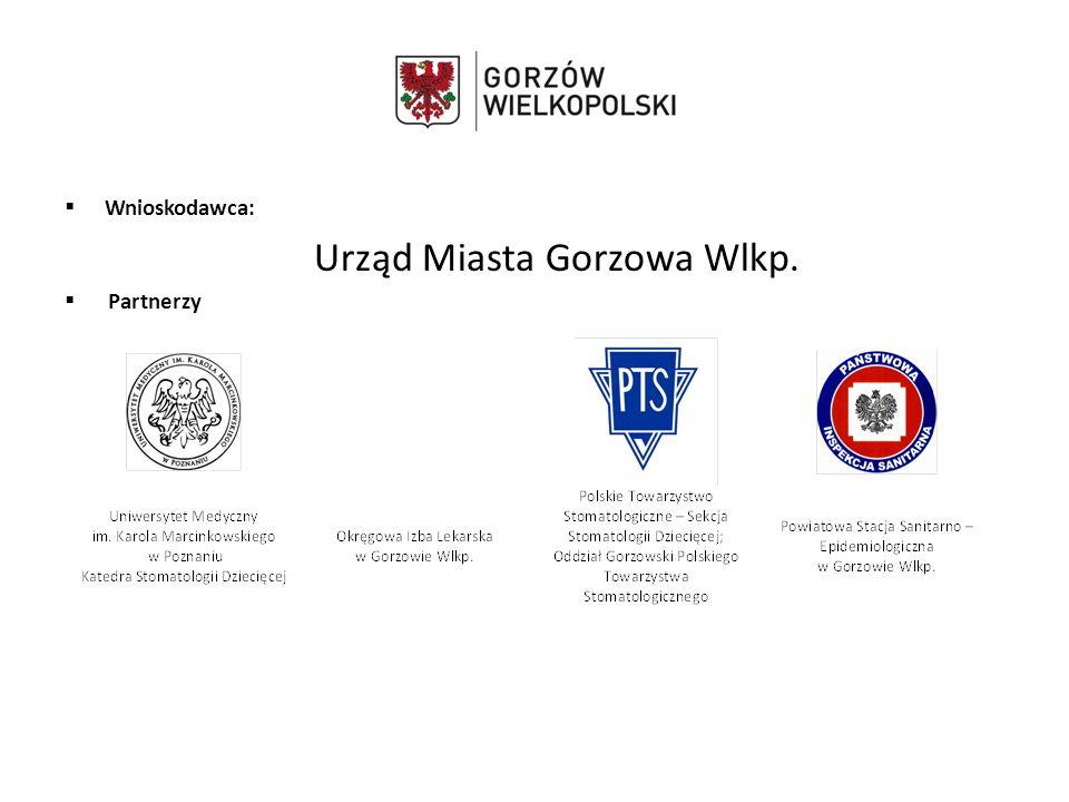  Wnioskodawca: Urząd Miasta Gorzowa Wlkp.  Partnerzy