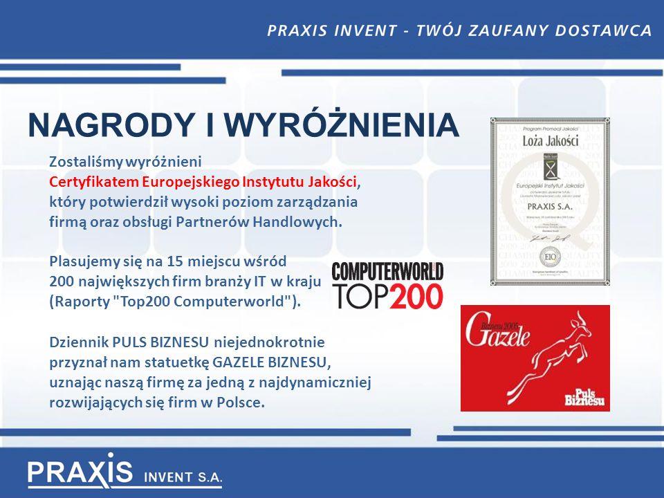 NAGRODY I WYRÓŻNIENIA Dziennik PULS BIZNESU niejednokrotnie przyznał nam statuetkę GAZELE BIZNESU, uznając naszą firmę za jedną z najdynamiczniej rozwijających się firm w Polsce.