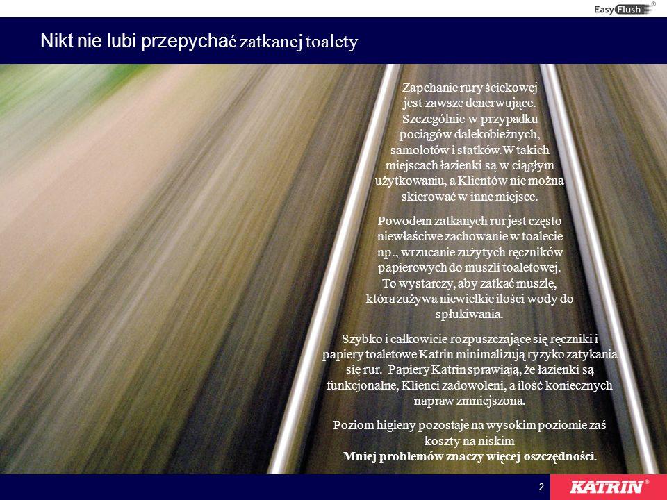 3 Utrzymanie higieny w pociągach, samolotach oraz na statkach W transporcie, rozwiązania sanitarne są bardzo ważne.