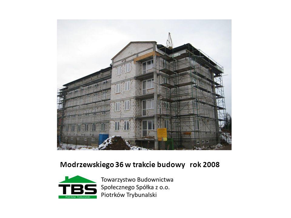 Modrzewskiego 36 w trakcie budowy rok 2008