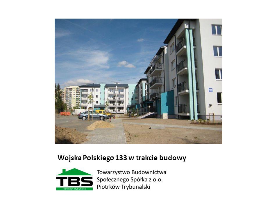 Wojska Polskiego 133 w trakcie budowy