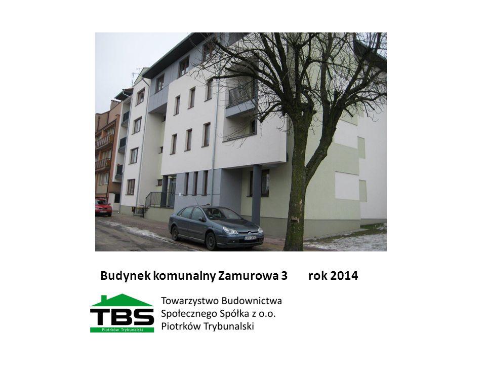 Budynek komunalny Zamurowa 3 rok 2014