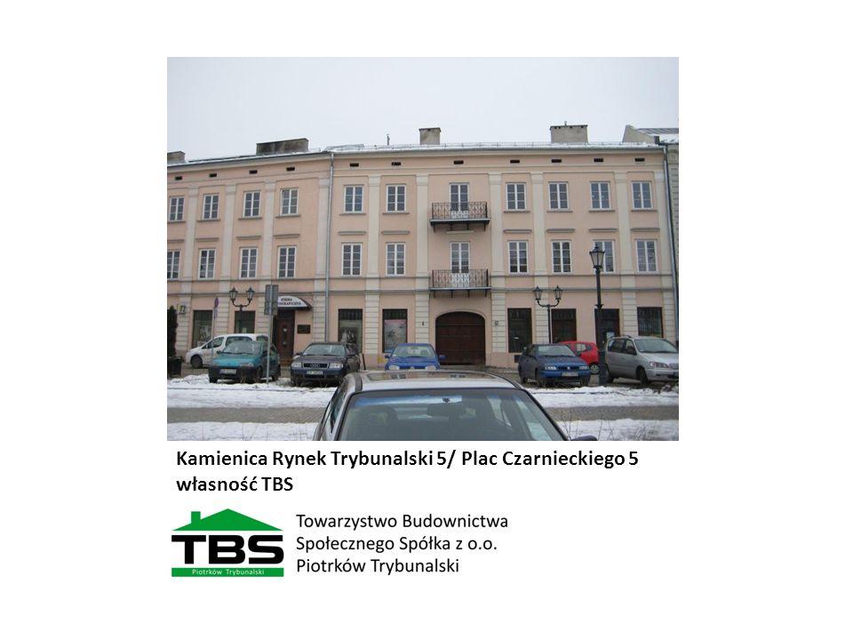 Kamienica Rynek Trybunalski 5/ Plac Czarnieckiego 5 własność TBS
