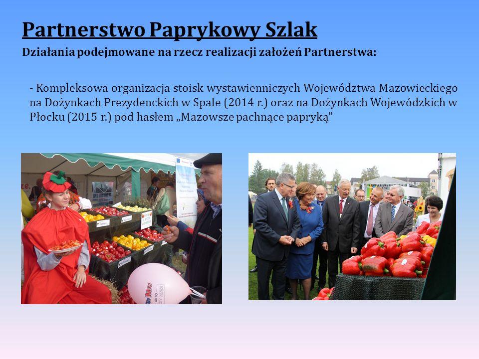 Partnerstwo Paprykowy Szlak Działania podejmowane na rzecz realizacji założeń Partnerstwa: - Kompleksowa organizacja stoisk wystawienniczych Województ