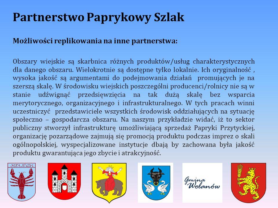 Partnerstwo Paprykowy Szlak Możliwości replikowania na inne partnerstwa: Obszary wiejskie są skarbnica różnych produktów/usług charakterystycznych dla